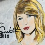 """In loving memory. Taylor Swift, 1989 -2016"" Mural by Lushsux"