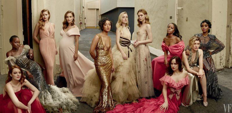 Emma Stone, Lupita Nyong'o, Amy Adams, Natalie Portman, Ruth Negga, Dakota Fanning, Elle Fanning, Aja Naomi King, Greta Gerwig & Janelle Monae by Annie Leibovitz (20)