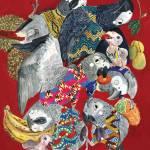 Bird Cluster Paintings by Lihie Jacob
