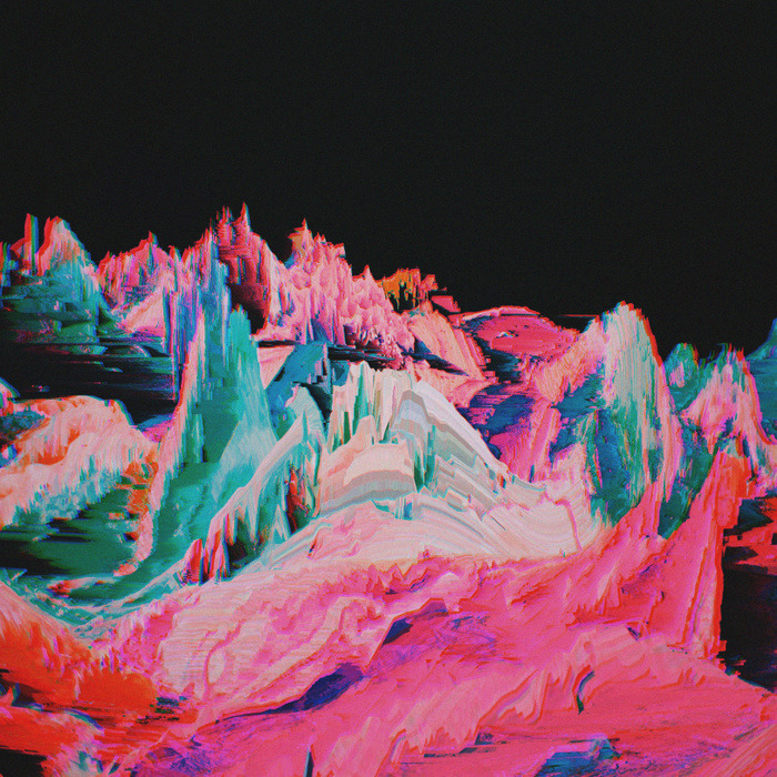 Abstract Glitch Landscape Prints by Aertime