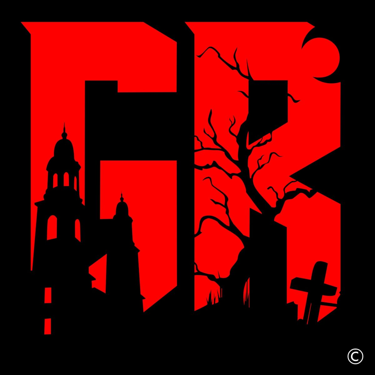 Grave Reviews Concept Logo