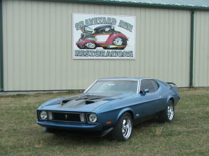one of our classic car restoration projects in Middle, Tennessee a 1973 Mustang Mach 1