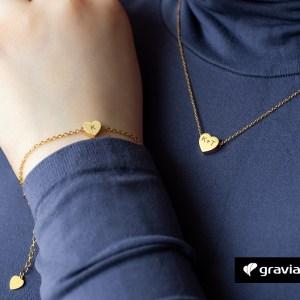 Herzkette mit Gravur-Graviando