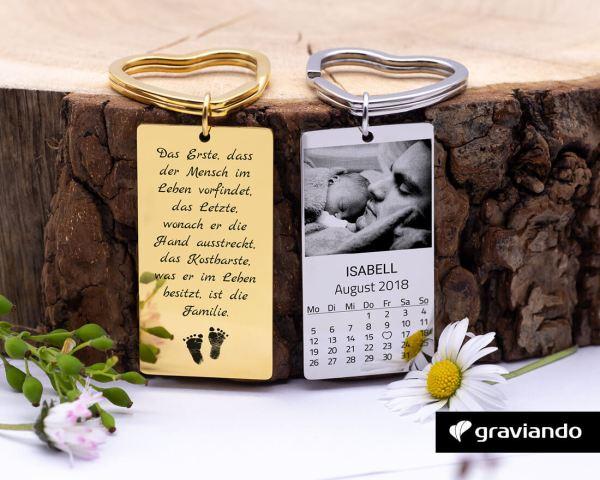 Kalender Schlüsselanhänger mit Bild Graviando