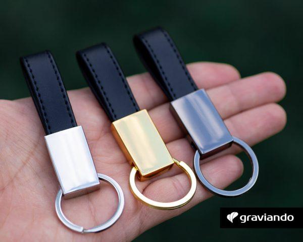 Schlüsselanhänger mit Wunschgravur Graviando