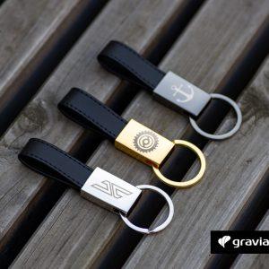 Schlüsselanhänger mit Logo Graviando