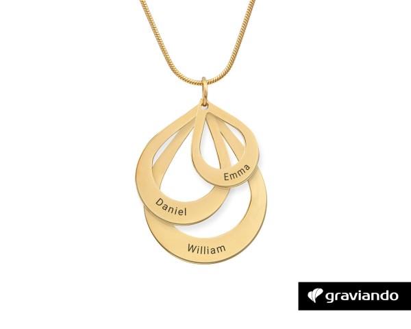 Halskette mit Namen - Gold Graviando