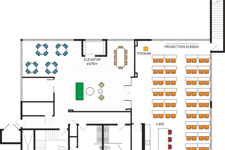 floor plan classroom gravitate