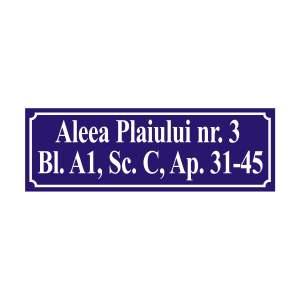 Placa gravata adresa PVC1
