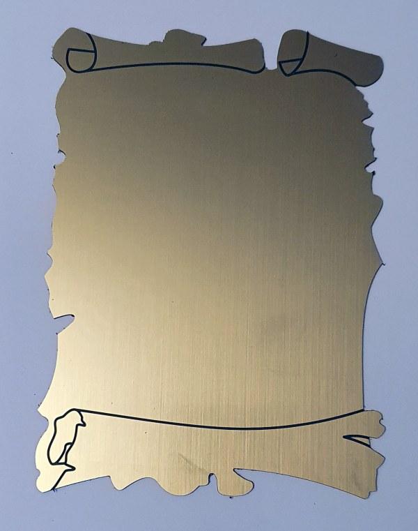 Placheta omagiala papirus
