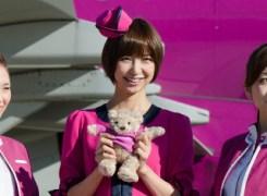 元AKB48の篠田麻里子さんデザインの特別塗装機
