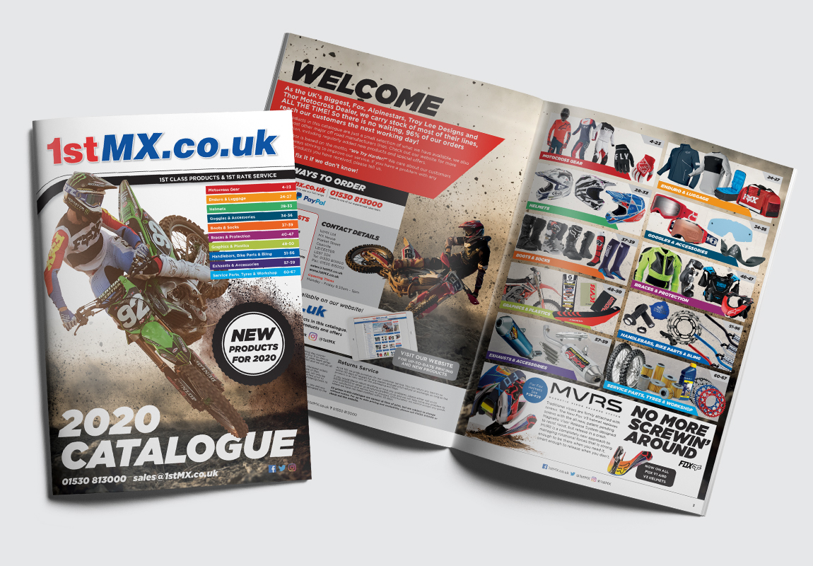 1st MX Catalogue Cover and Intro Spread