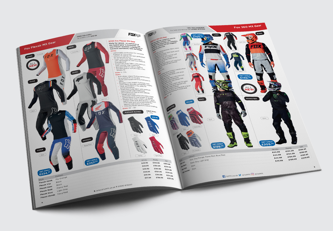 1st MX Catalogue MX Gear Spread