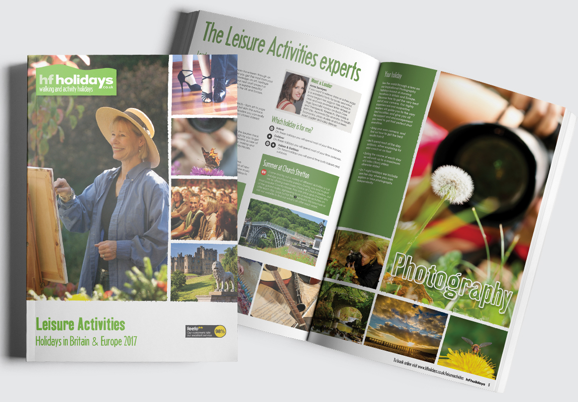 HF Holidays Brochure Cover and Intro Spread 2