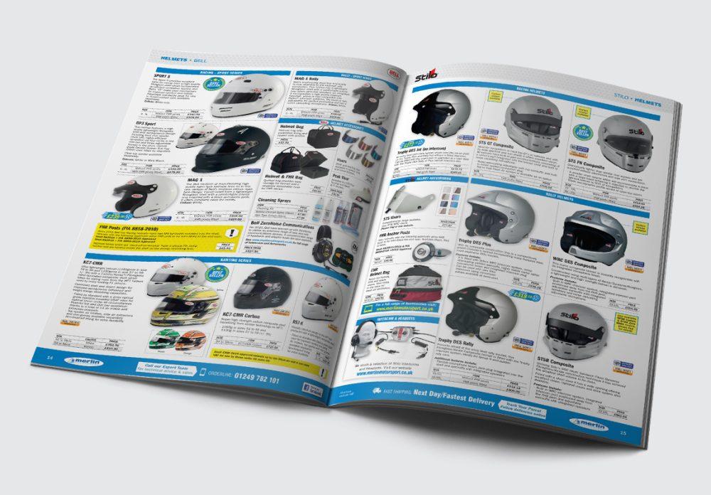 Merlin Motorsport Catalogue Helmets Spread