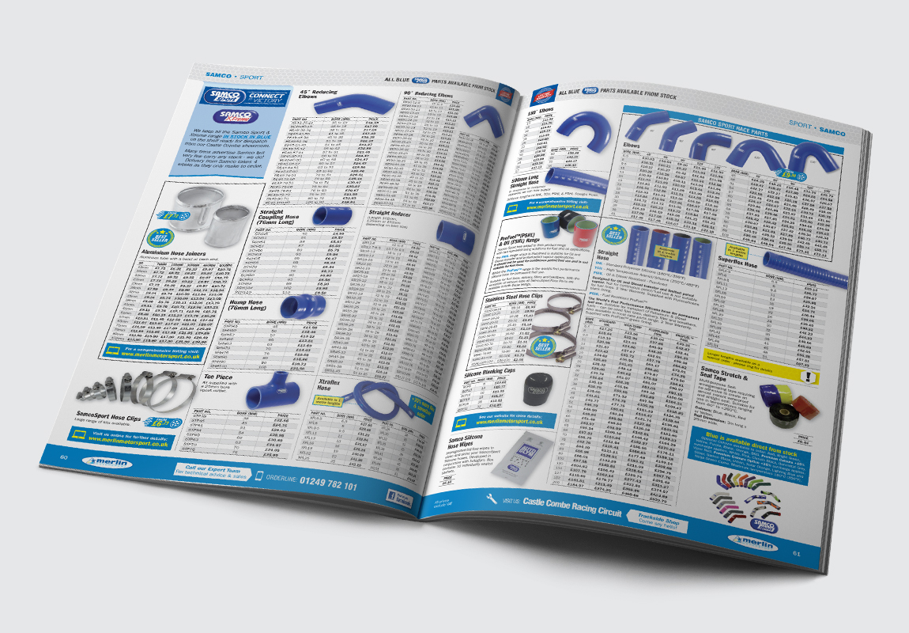Merlin Motorsport Catalogue Samco Spread