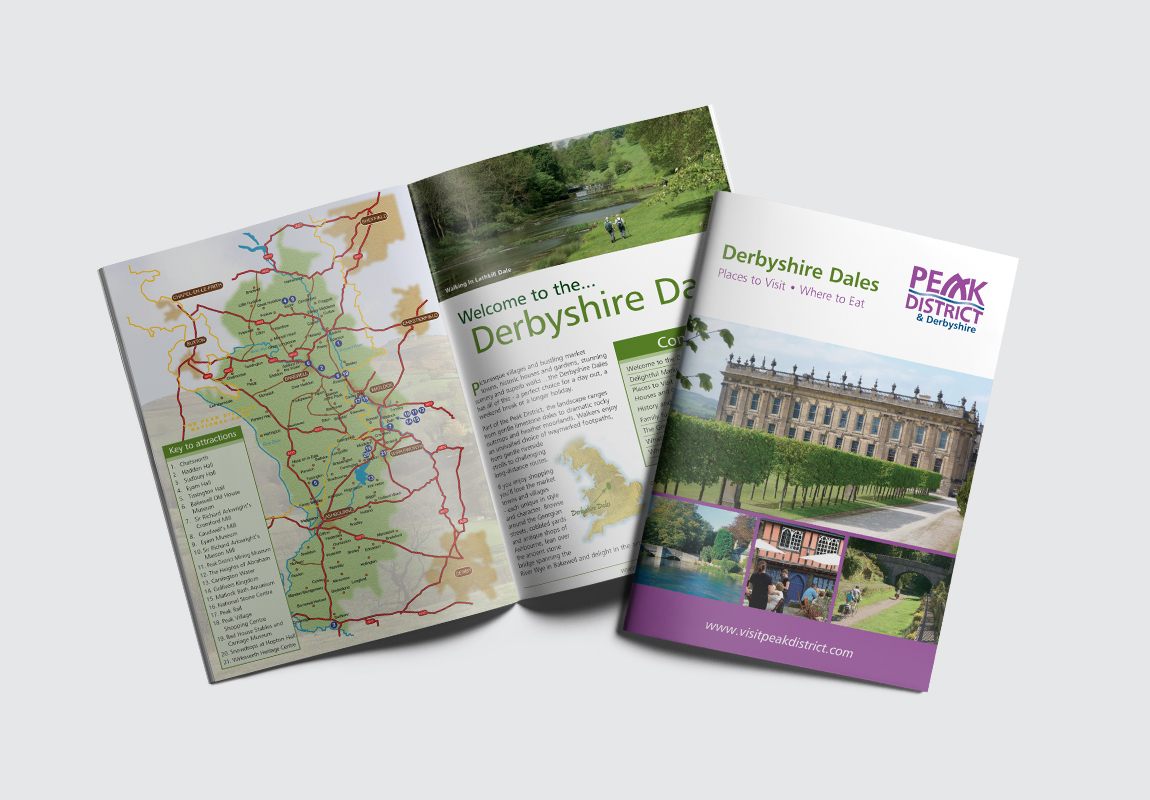 Peak District & Derbyshire Catalogue Cover and Intro Spread