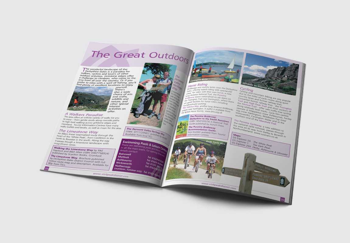 Peak District & Derbyshire Catalogue The Great Outdoors Spread