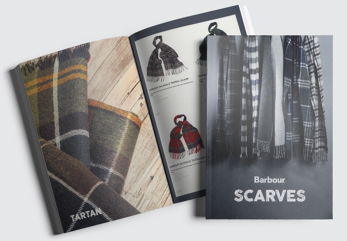 Barbour Scarves Catalogue Cover and Intro Spread
