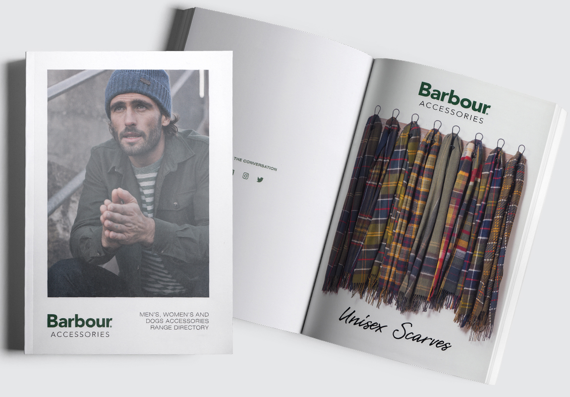 Barbour Accessories Catalogue Cover and Intro Spread