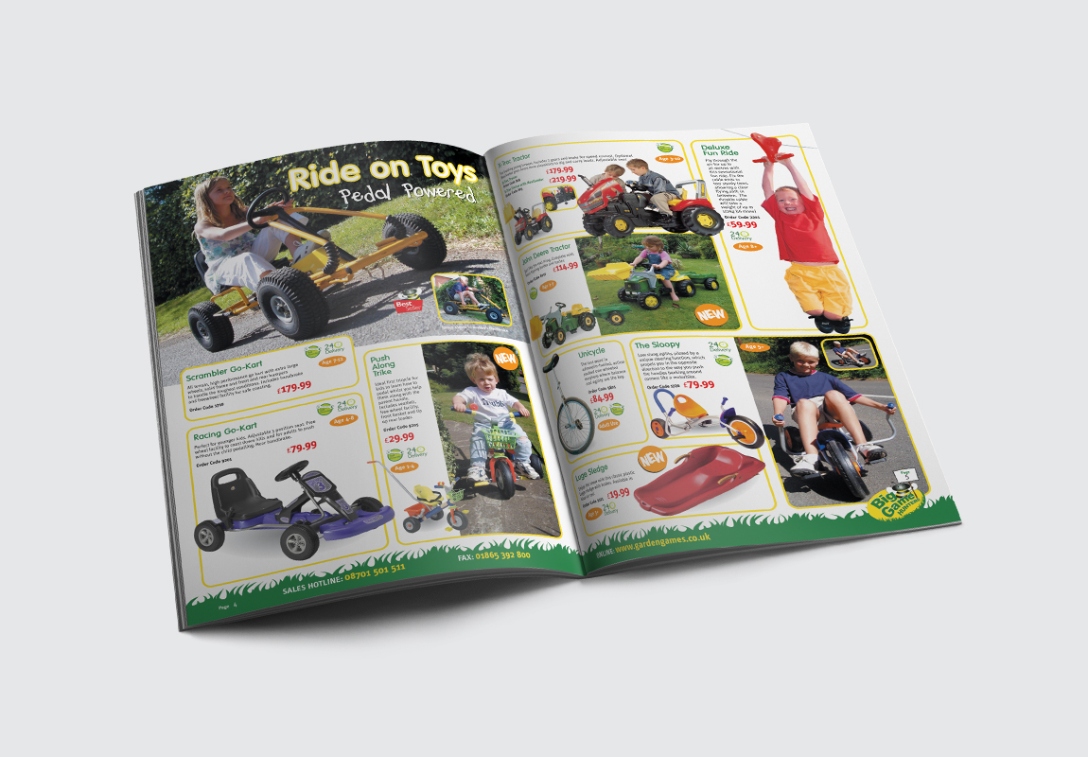 Big Games Hunters Brochure Ride on Toys Spread