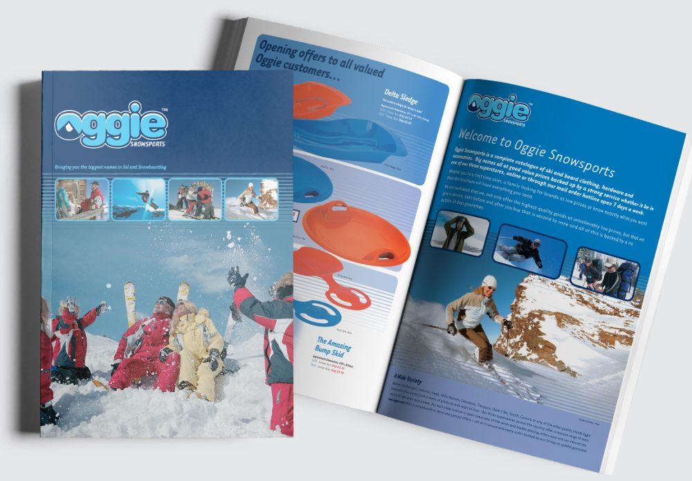 Oggie Snowsports Catalogue Cover and Intro Spread