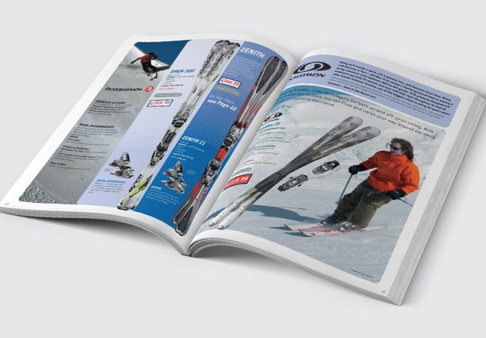 Oggie Snowsports Catalogue Skis Spread