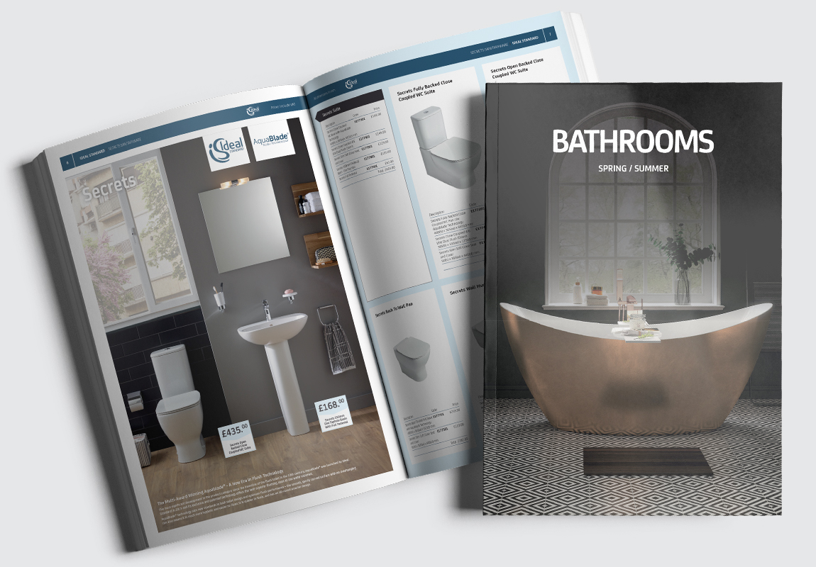 PHG Bathrooms Catalogue Cover and Intro Spread