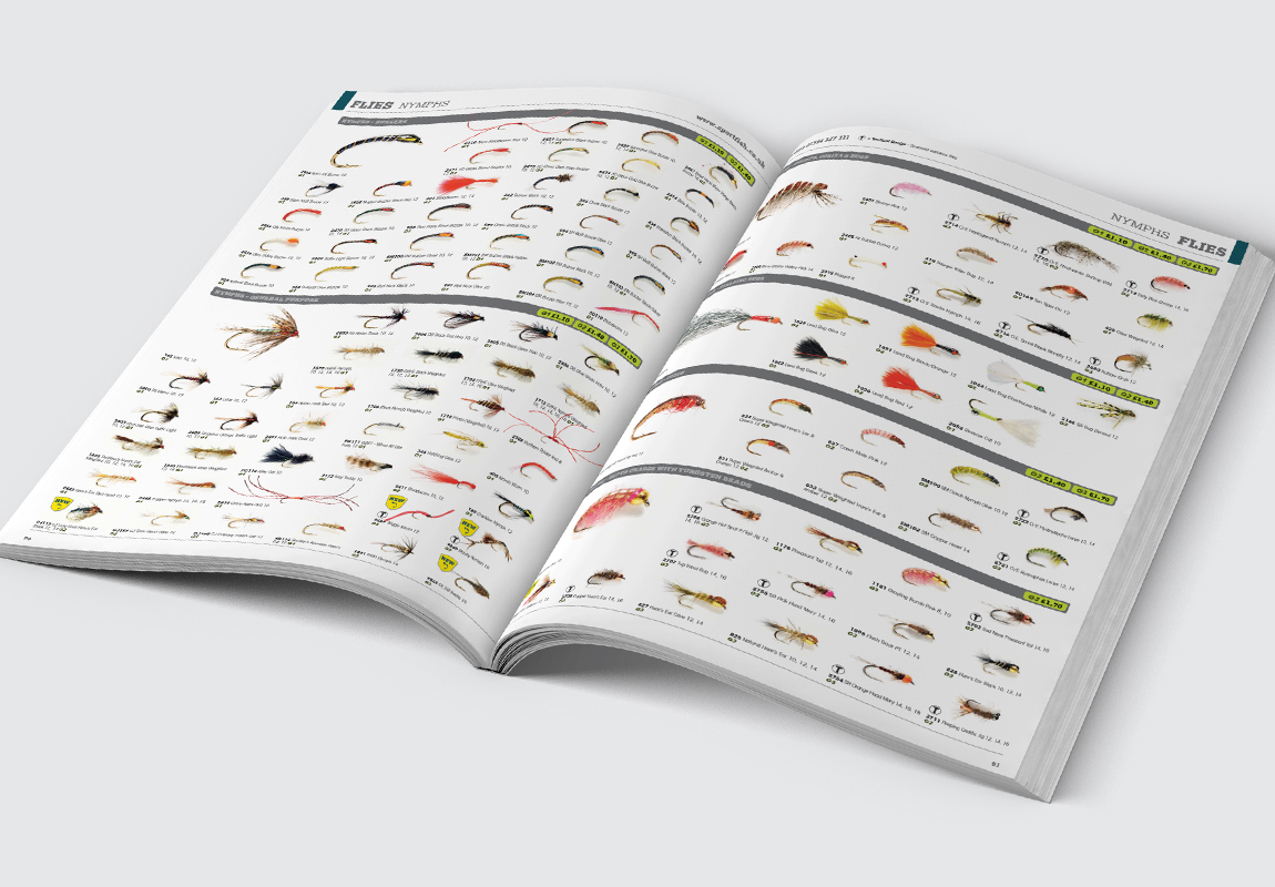 Sportfish Catalogue Flies Spread