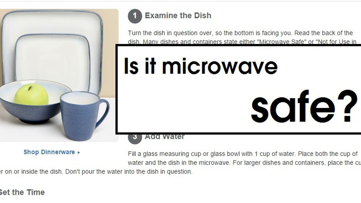 how to tell if something is microwave safe