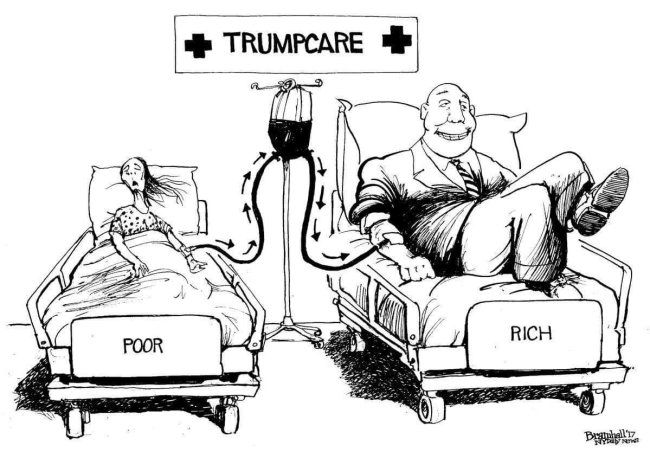 Trump care, a wealth care plan to replace our health care.