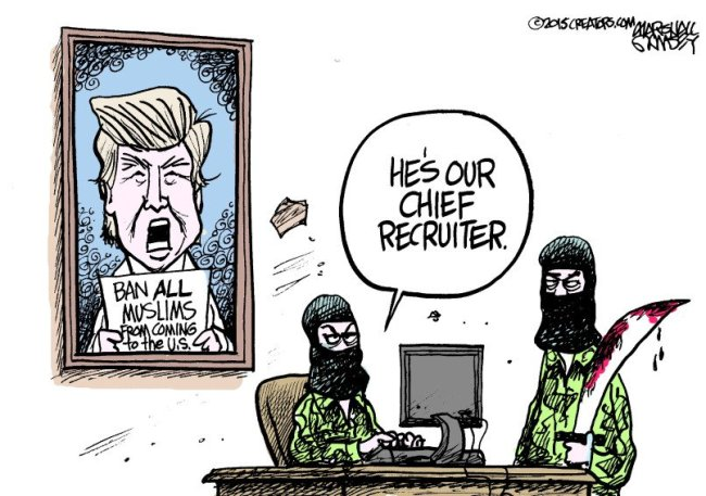 Trump as ISIL's top recruiter.