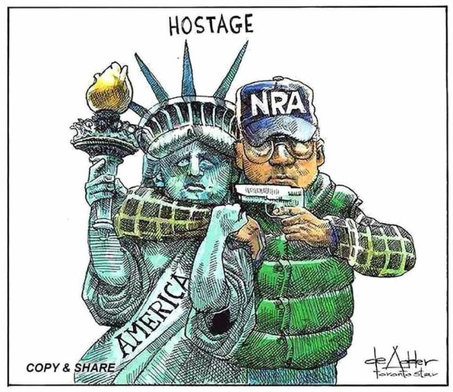 We are hostages of the NRA.