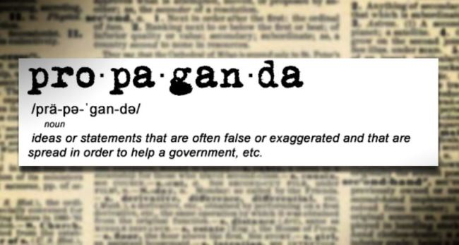Propaganda definition: ideas or statements that are often false or exaggerated and that are spread in order to help a government, etc.