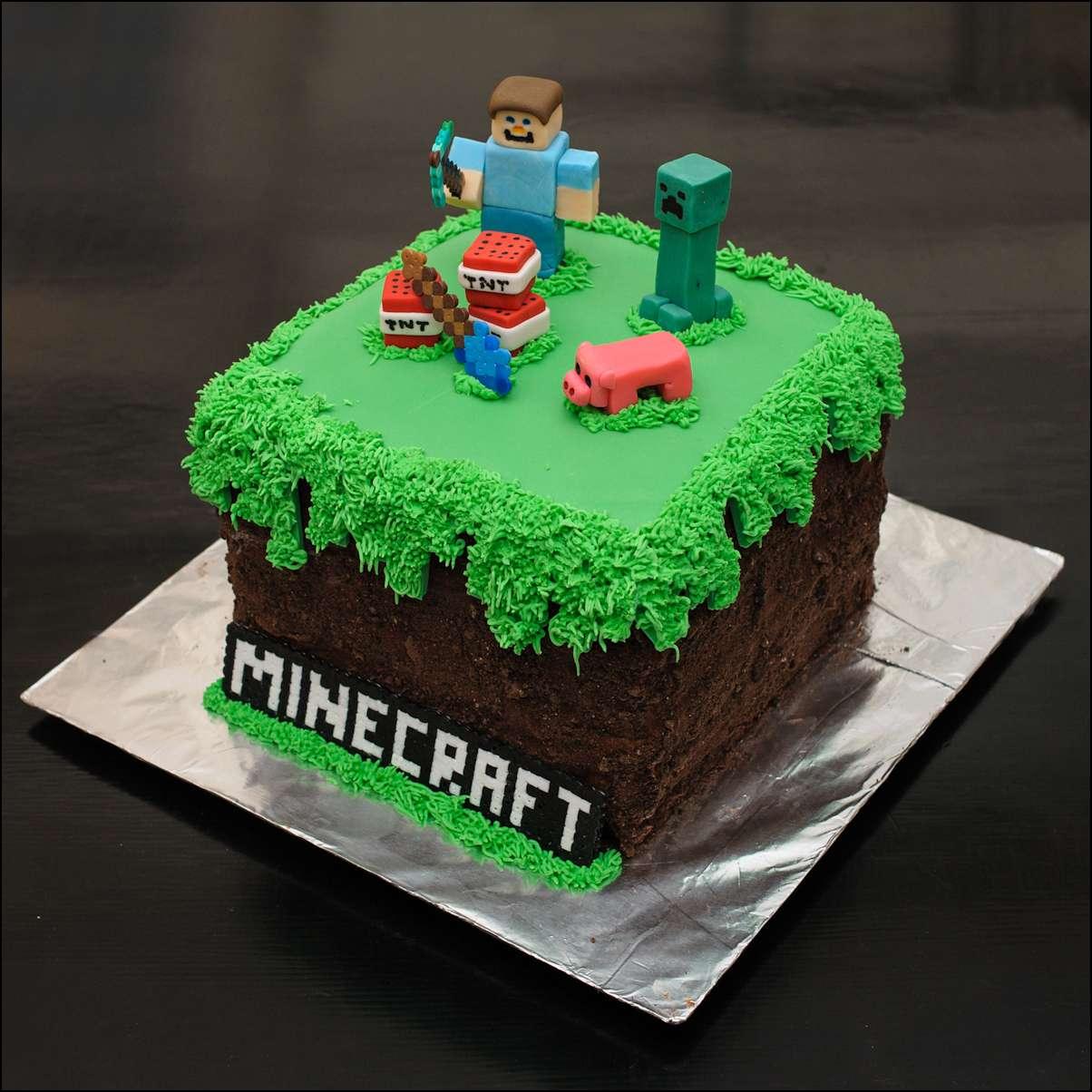 Minecraft Cake Gray Barn Baking