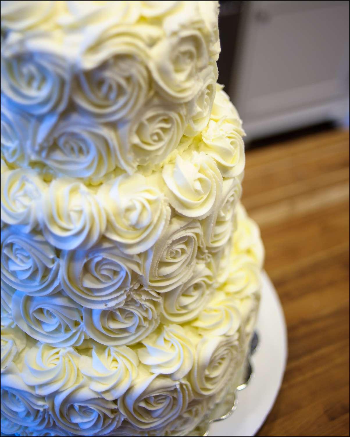 Tiered Rosette Wedding Cake Gray Barn Baking