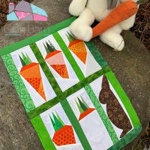 paper pieced carrot pattern
