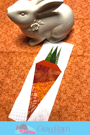 carrot paper pieceing