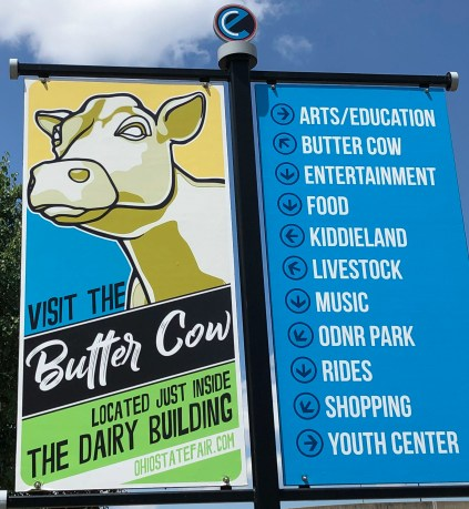 Butter cow sign