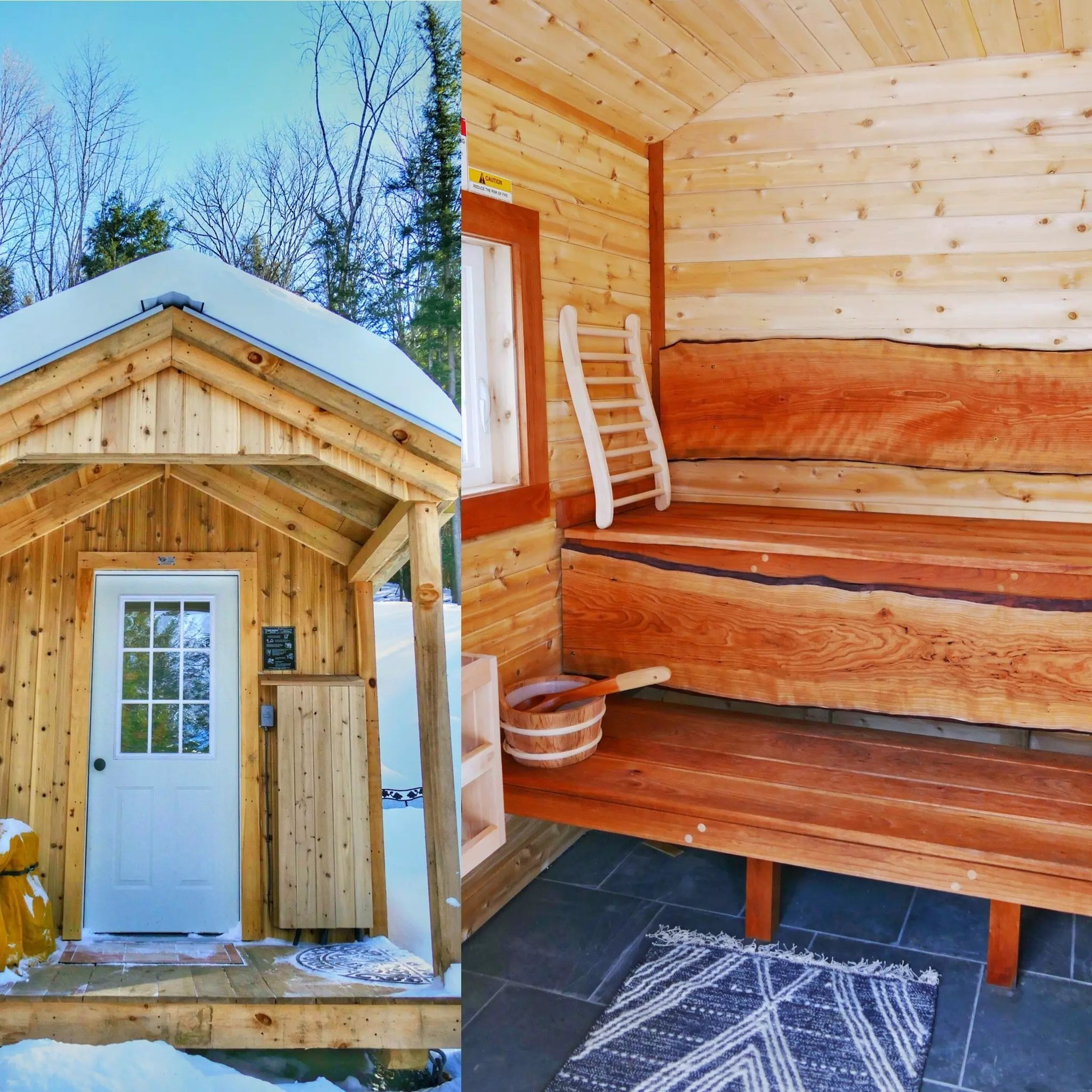 Outdoor Finnish sauna at Falcon House