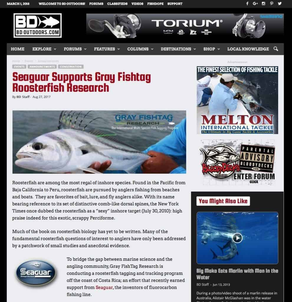 Seaguar and Gray FishTag