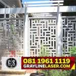 081 1961 1119 GRAYLINE LASER > Pintu Garasi Laser Cutting Jakarta Barat