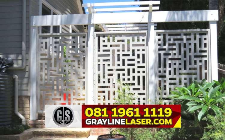 Pintu Garasi Laser Cutting Tengerang Selatan