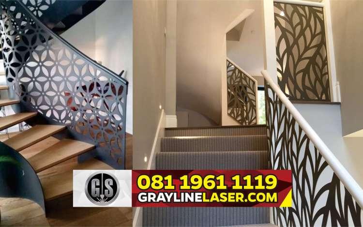 081 1961 1119 > GRAYLINE LASER | Railing Tangga Laser Cutting Durensawit