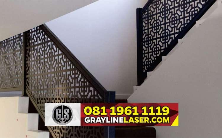 081 1961 1119 > GRAYLINE LASER | Railing Tangga Laser Cutting Kresek Tangerang