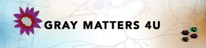 Header of Gray Matters 4U with Lotus flower