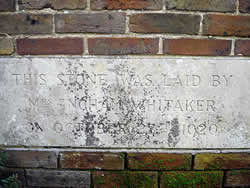 Foundation Stone 27th October 1920