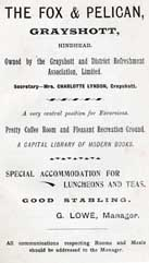Advert Haslemere & Hindhead Guide 1901.