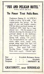 Advert Grayshott Handbook c.1926.