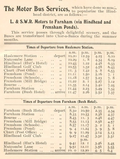 Extracts from the L.S.W.R. time and fare tables 1910.